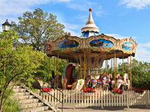 Carousel in Skansen park Royalty Free Stock Image