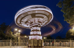 Carousel at slow shutter speeds at the Baku Boulevard Stock Photos