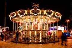 Carousel on the Sophia`s Square in the center of Kiev Stock Photography