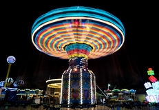 Carousel spinning fast Royalty Free Stock Image