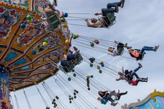 Carousel at Spring Festival in Munich, Germany, 2015 Stock Photos