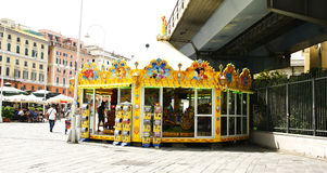 Carousel in a square Royalty Free Stock Photos