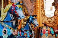 carousel szczegółu konie Zdjęcia Stock