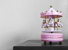 Carousel Toy. On the table Stock Images