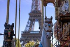 Carousel. At Trocadero, Paris, France royalty free stock image