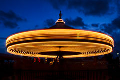 Carousel at Twilight Long Exposure Royalty Free Stock Photo