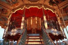 carousel uczciwi zabawy konie jadą tradycyjnego Fotografia Stock