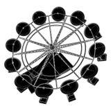 Carousel Vector 02. Carnival Fair Carousel Wheel Illustration Vector Royalty Free Stock Photo