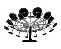 Carousel Vector 03. Carnival Fair Carousel Wheel Illustration Vector Stock Images