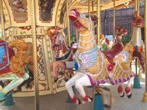Carousel Vintage Art Colorful Stock Images