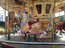 Carousel Vintage Art Colorful Stock Image