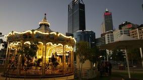 Carousel w Perth nocy zdjęcie wideo