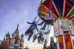 Carousel w ruch plamie zdjęcie royalty free