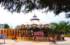 Carousel, Warner Park, Madrid stock photo