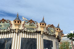 Carousel on the waterfront in the port of Alicante. Royalty Free Stock Photography