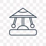 Carousel wektorowa ikona odizolowywająca na przejrzystym tle, liniowym ilustracja wektor