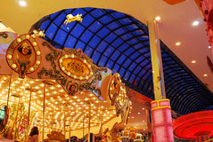 Carousel in west edmonton mall stock image