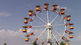 Carousel wheel. In the park stock video