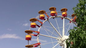Carousel wheel in a summer day Stock Images