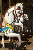 Carousel with white horse Stock Photos