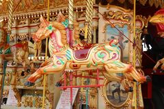 Free Carousel Wooden Horse Stock Photography - 150230672