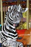 Carousel Zebra. Black And White Striped Zebra Merry Go Round Horse Stock Photography
