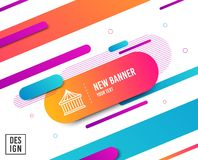 Carousels line icon. Amusement park sign. Vector. Carousels line icon. Amusement park sign. Diagonal abstract banner. Linear carousels icon. Geometric line vector illustration