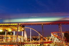 Carousels at night Royalty Free Stock Photo