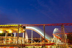Carousels at night Stock Photos