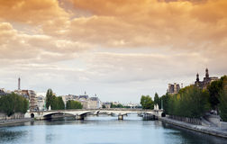Caroussel bridge in Paris Royalty Free Stock Photo