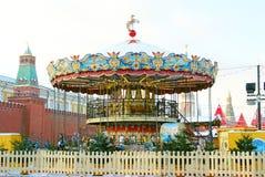 Caroussel en la Plaza Roja en Moscú en invierno Fotografía de archivo