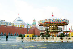 Caroussel on the Red Square in Moscow in winter Stock Image