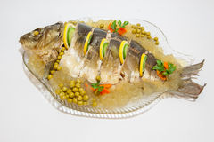 Carp in aspic as a dish - decked Stock Image