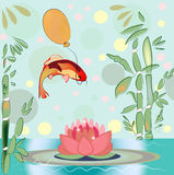 Carp and balloon Stock Images