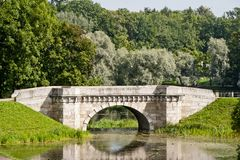Carp Bridge in Gatchina park Stock Images