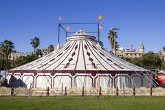 Carp of circus. A circus tent from the outside. Show for all ages Royalty Free Stock Photography