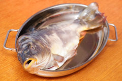 Carp cooking Stock Photography