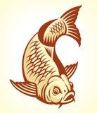 Carp Fish. Cartoon. Vector illustration Stock Photos