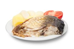Carp fish with potatoes Stock Image
