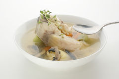 Carp fish soup with organic herbs Royalty Free Stock Images