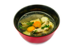 CARP FISH SOUP WITH ORGANIC HERBS. ISOLATED Royalty Free Stock Photo