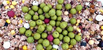 Free Carp Fishing Bait Boilies Mixed Particle Groundbait  Stock Images - 154891234