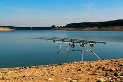 Carp fishing rods Royalty Free Stock Image