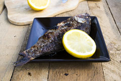 Carp grill. Carp roasted on the grill Royalty Free Stock Image