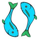 Carp icon cartoon. Carp icon in cartoon style isolated vector illustration Stock Photography