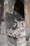 Stone carving in a ancient architecture,Carp jumping dragon gate,shanxi,china royalty free stock image