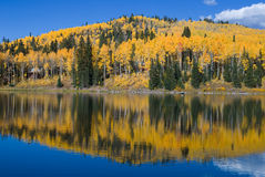 Carp Lake. Autumn reflections in a mountain lake Royalty Free Stock Photography