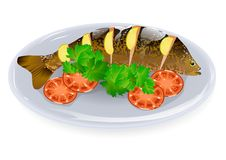 Carp with lemon Stock Images