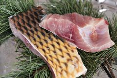 Carp meat portions Royalty Free Stock Image