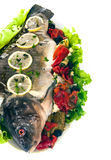 Carp with potato and vegetable Stock Images